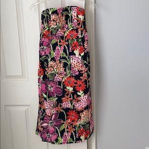 Lilly Pulitzer strapless midi dress